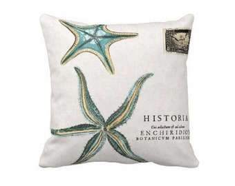 Pillow Cover Turquoise Starfish