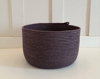 Black Dyed Rope Pot
