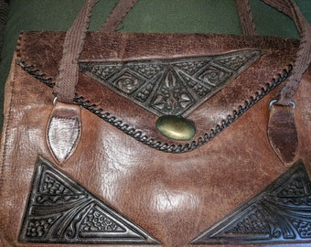 Antique leather small purse