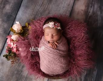 "NEW cotton Crochet wraps 60""x15"" so soft newborn photography, newborn wrap, soft wrap"