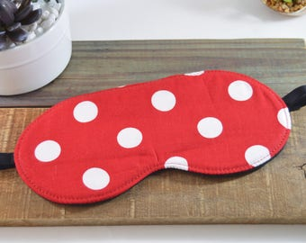 Polka Dot Sleep Mask, Adult Teen Kids Novelty Slumber Party Gift, Cute Fun Adorable Dotted Adjustable Comfortable Sleeping Eye Cover