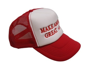 Make America Great Again - Donald Trump Trucker Hat Embroidered-adjustable White