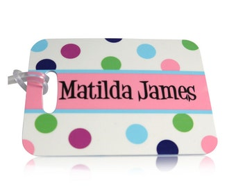 Personalised Bag Tags, Personalised Luggage Tag, Printed Luggage Tag, School Luggage Tag, Kids Bag Tags,Suitcase Tags, Childs Luggage Tag