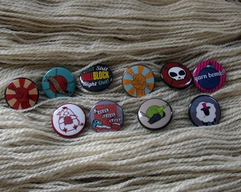 Knitting Button Set - 10 Buttons! One of Each Design!