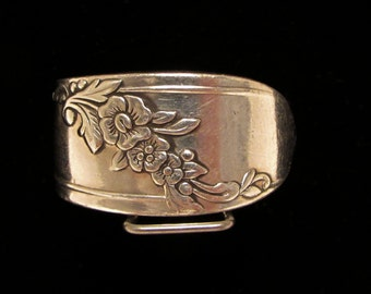 Spoon ring made from an original 1946 Queen Bess II pattern silver spoon ring.