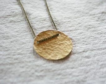 Geometric Shape Necklace, Circle Necklace, Moon Necklace, SHAPE
