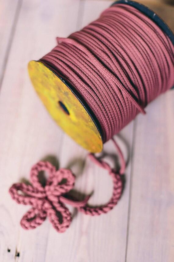 DARK PINK cord- macrame cord- knitting supplies- knitting yarn- crochet rope- chunky yarn- diy projects- craft projects- macrame cord #52