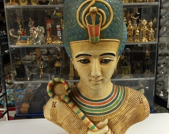 Vintage Replica Heavy Egyptian Statue God  Osirs Hand Carved
