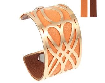 Rose Gold double infinity Cuff Bracelet