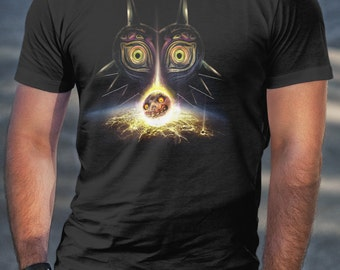 T Shirt of my Majoras Mask Inspired Legend of Zelda Moon Fall painting art clothing design for Men and Women by Barrett Biggers