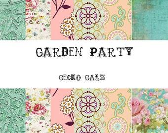 Garden Party Mini Digital Paper Pack