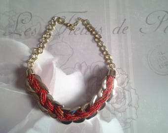Multi-row necklace seed beads