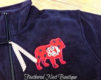 Critter Monogram 1/4 Zip Fleece Pullover - Monogram Quarter Zip Pullover - Monogrammed Polar Fleece Pullover - Personalized Pullover