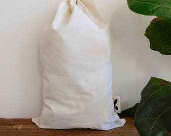 Medium Reusable Produce Bag- Organic Natural Cotton, unbleached- Eco Friendly- GOTS Certified