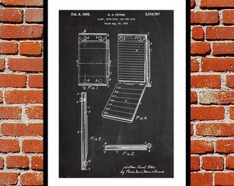 Notebook Patent, Notebook Poster, Notebook Blueprint,  Notebook Print, Notebook Art, Notebook Decor