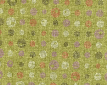 Contrasting Dots - Bamboo Green Japanese Imported Fabric (1/2 Yd Increments)