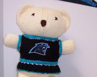 Bear, Carolina Panthers Cheerleader Bear, Baby Girl Bear, Baby Shower Gift, Birthday Gift, Keepsake Bear, Souvenir Bear