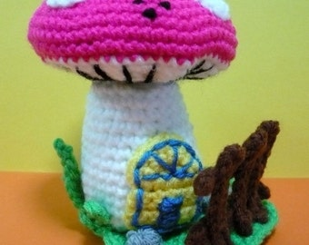 Crochet Pattern Home Decor Crochet Pattern Plush Crochet Pattern PDF Instant Download Toadstool House