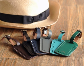 Personalised Recycled Leather Luggage Tag