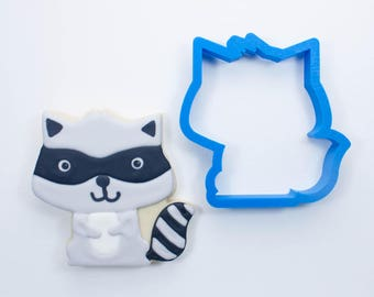 Woodland Raccoon Cookie Cutter   Animal Cookie Cutter   Woodland Cookie Cutters   Custom Cookie Cutters   Unique Cookie Cutters