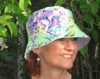Chemo Hat Bucket Hat Cancer Hat Made in the USA  Medium/Large