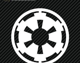 Star Wars Galactic Empire Logo Sticker Decal (2)
