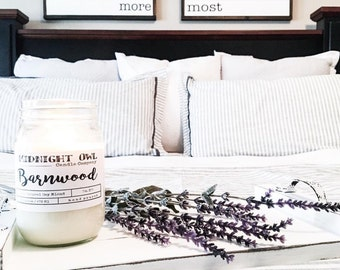 Barnwood | Soy Candle, Scented Candle, Woodsy scents, Mason Jar, Eco Friendly, Soy, Rustic Decor, Home Decor, Barnwood, Country, Candles