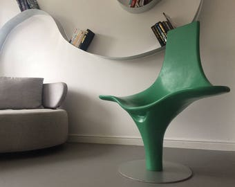 Unique Design Modern Green Funky Chaise Longue Chair Armchair Cappellini style