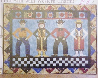Quilting Pattern, Western Theme, 4 Projects