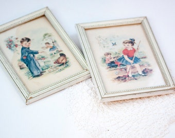 Vintage Story Book Style Prints, Children's Decor