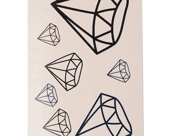 Diamonds Tattoo Sheet - 1 Pc