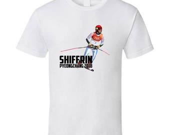 Mikaela Shiffrin Usa Alpine Skiing 2018 Olympic Athelete Fan T Shirt