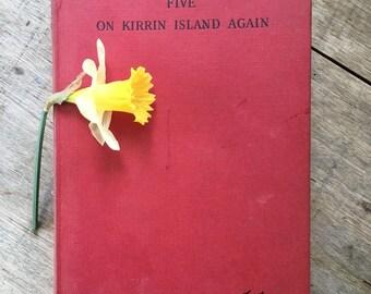 famous five, 1950s Enid Blyton, Kirrin Island, collectible book, children's book, classic child's book, retro book, adventure story