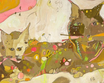 m &b Lynx Paper Print by Jennifer Mercede 11X14