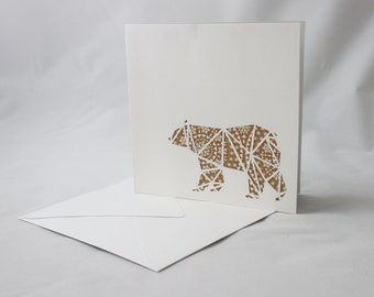 Bear Birthday Card | Bear Card | Bear Print | Animal Art | Anniversary Card | Grizzly Bear Card | Mothers Day Card | Spoor Designs