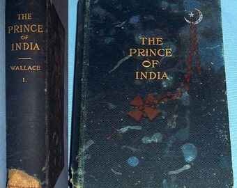 Antique 1893 FIRST EDITION Book The Prince of India or Why Constantinople Fell by Lew Wallace - Vol. 1 - Hardcover