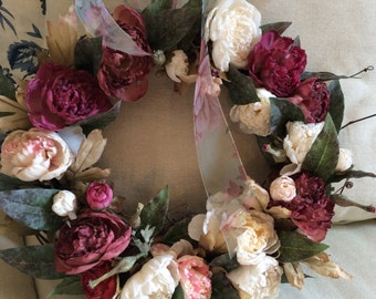 Spring wreath and Summer wreath/ Peony wreath/Cottage wreath/Mothers day wreath