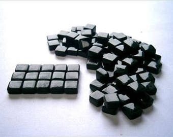 Micro Mosaic 8mm Tiles 100 pack Mosaic Heaven Micro Mosaic Tiles, Deepest Green B6 Tesserae, Tessera.