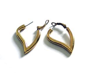 heart earrings vintage 80s