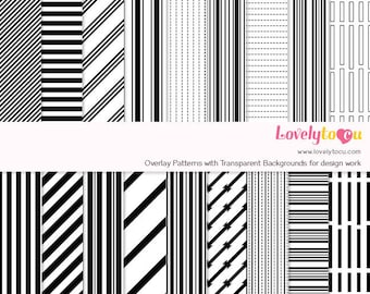 Overlay pattern templates, stripes, digital paper background designs, seamless pattern transparent backdrop, commercial use (L0Y03)