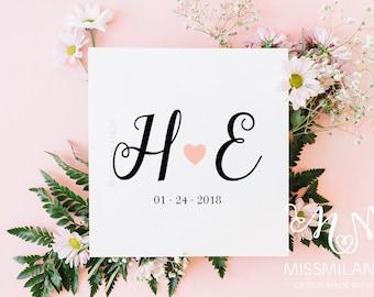 Wedding Logo Design, Wedding logo, Wedding Monogram design, Custom Wedding Logo, Wedding initials, wedding logo pdf, custom wedding logo