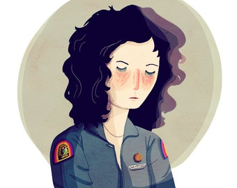 Last Survivor of the Nostromo  - Illustration Print