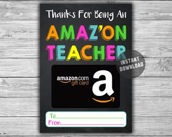 PRINTABLE Gift Card Holder For Teacher - INSTANT DOWNLOAD - Thank You Coach Daycare Amazon Amazing Valentine Last Minute Gift Idea - GC03