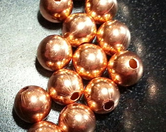 8 mm Solid Copper Beads. Made in the USA.
