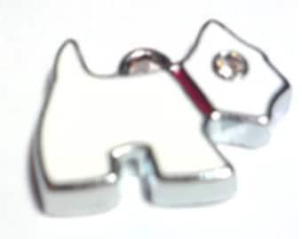 5 pieces puppy westie terrior Zinc Alloy Enamel Charm Pendants - A0191