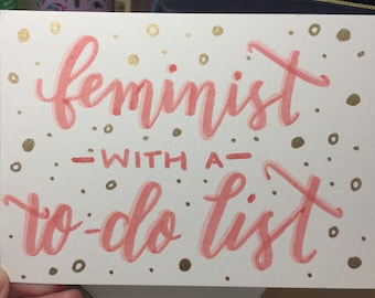 Feminist with a To-Do List Miniprint