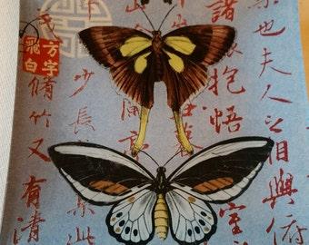 Butterflys glass trinket tray