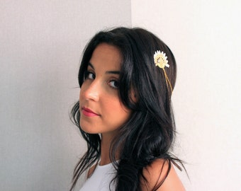Romantic Lace Chain Headpiece - The Flowers