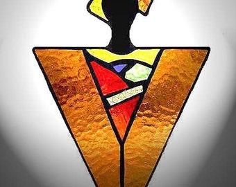 Stained Glass Sun Catcher - Autumn