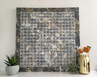 Silvia Abstract Fine Art, Original Art, Line Work, Modern Art, Original Painting, Wall Art, Canvas Art, Fine Art, Geometric Art